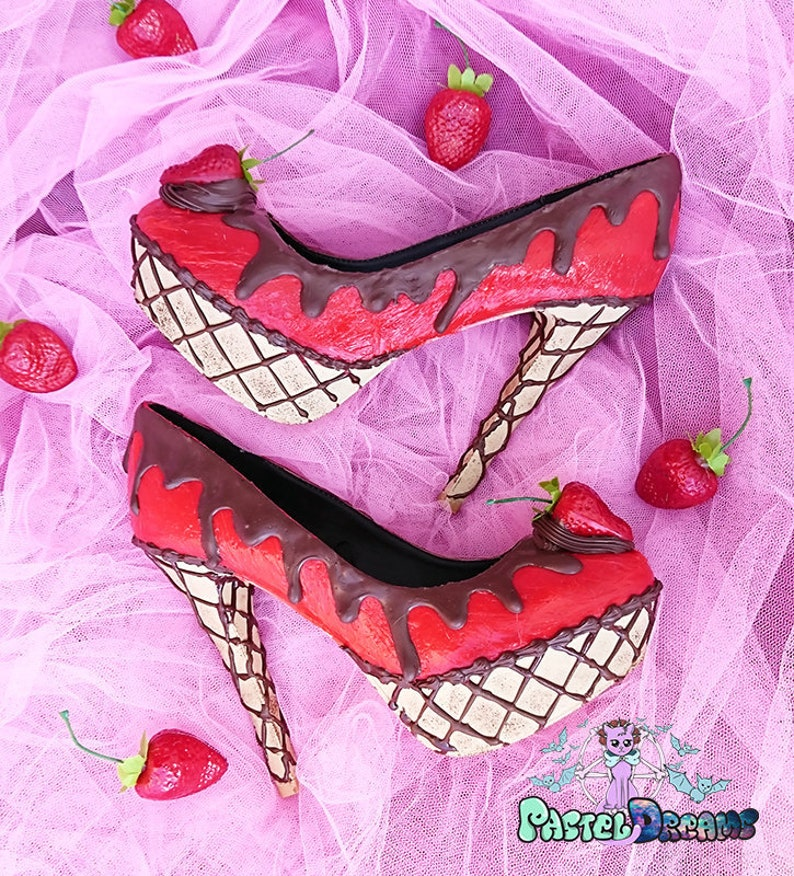 a54a338302 Custom made jelly ice cream and chocolate cake shoes