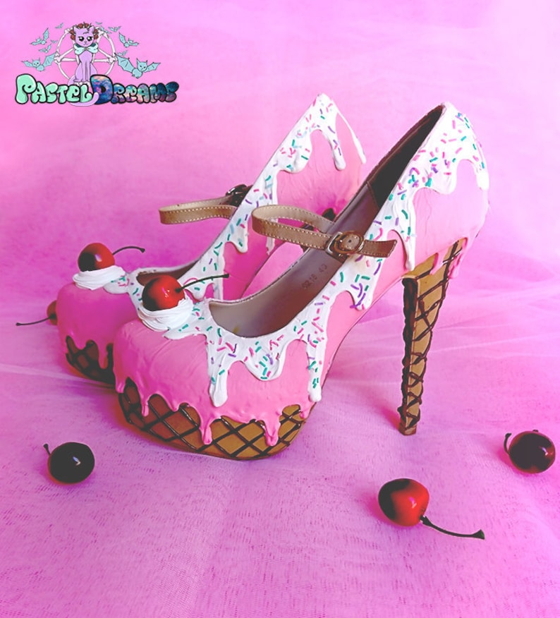 ice cream cupcake custom made heels shoes one of the kind image 0