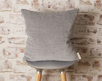 Steel Grey Cushion Cover, Solid Grey Pillow, Gray Pillow, Steel Grey Pillow, Grey, Modern Colour Block, 18 x 18, 20 x 20, 22 x 22 Inch Cover