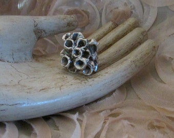 """Abstract Catacomb solid sterling silver ring from """"lost wax method"""""""