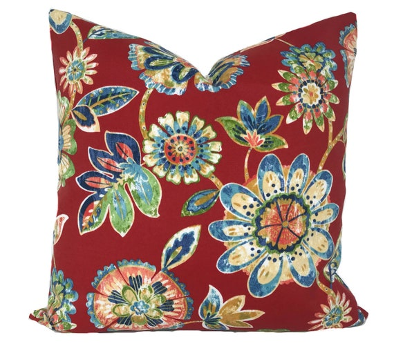 Outdoor Pillow Cover Outdoor Pillow Red Outdoor Pillow Etsy