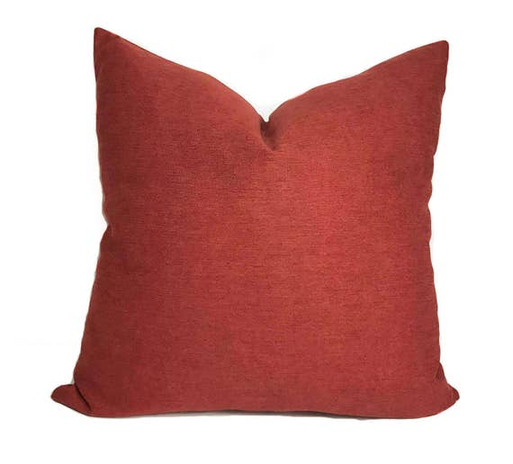 Red Pillow Cover Red Throw Pillow Decorative Pillow Couch Pillow Cushion Cover Red Toss Pillow Zippered Pillow 2 Sizes Available
