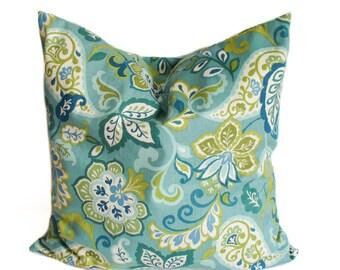 Throw pillow cover, Green pillow, Green throw pillow, Decorative pillow, Couch pillow, Sofa cushion, Shams, Lumbar pillow, 11 sizes