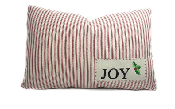 Christmas lumbar pillow cover with