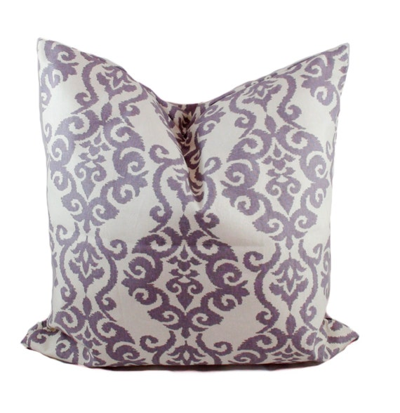 Purple Pillow Cover 40x40 Purple Throw Pillow Decorative Etsy Simple Purple Decorative Pillows For Bed
