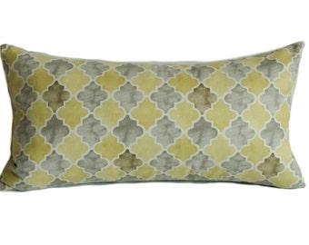 Yellow pillow cover, Gray pillow, Pillow cover, Throw pillow, Decorative pillow, Sofa cushion, 12x22, 18x18, 20x20, 22x22, 24x24