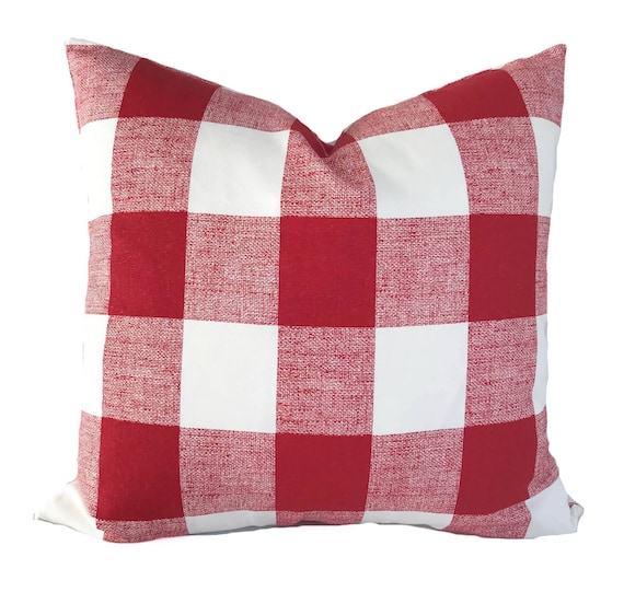 Red Pillow Cover 40x40 Buffalo Check Pillow Red Throw Etsy Enchanting Etsy Pillow Covers 20x20