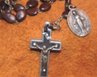 Antique Reliquary RELIC ROSARY  CATACOMB Cross