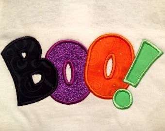 Boo! Applique Embroidery Design