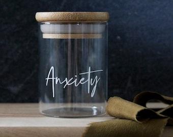custom labeled stash jar SHORTY | stash jar container | stash box | cannabis jar | cbd jar | weed jar | marijuana | cbd | anxiety meds