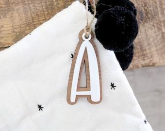 custom stocking letter tag | letter ornament | letter gift tag | christmas ornament | monogram | initial | christmas gift | stocking stuffer