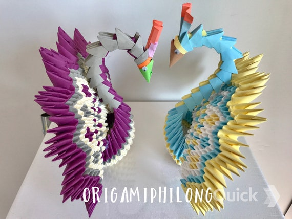 Origami paper peacock – Origami peacock easy 3D – How to make a ... | 427x570