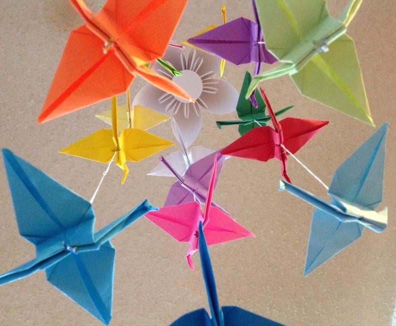 Origami crane mobile | Etsy | 653x794