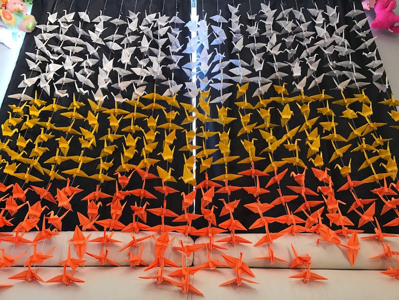 The Damn Birds: 1,000 Origami Cranes | Anything, But Not Everything | 596x794