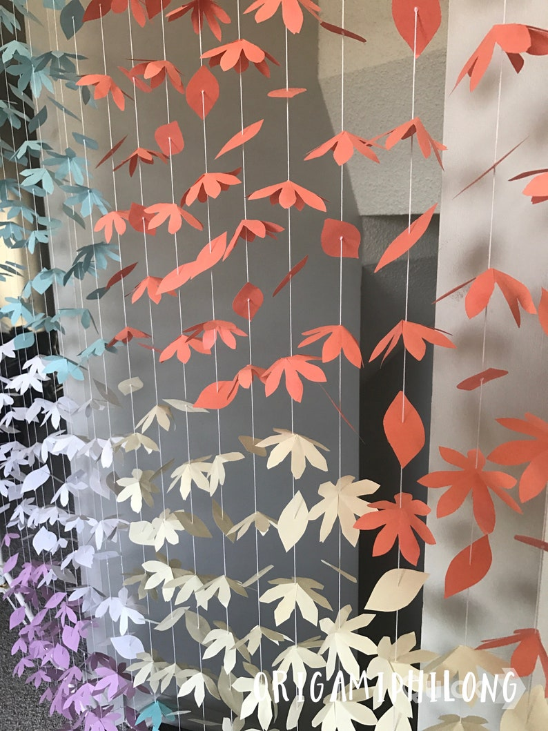 20 Strands Hanging Flowers Garland Flowers Backdrop Free Shipping Paper Flowers