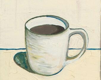 Yellow Coffee Cup - Giclee Print