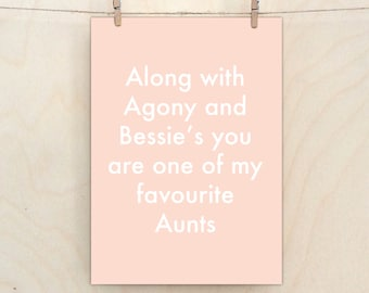 Favourite Aunt CardFunny Card Funny Birthday