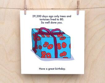 Funny 80th Birthday Card Age 80 29200