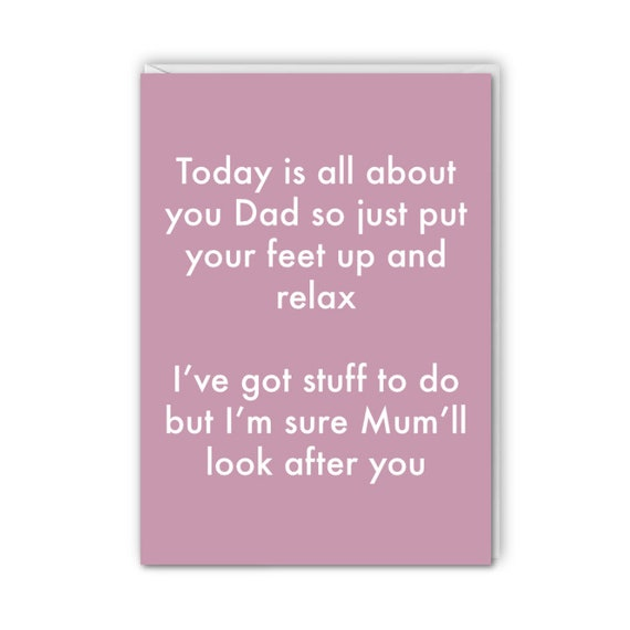 Fathers Day, funny card, Mum will look after you