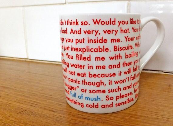 Full of Mush - Fine bone china balmoral style mug printed and made in the UK.