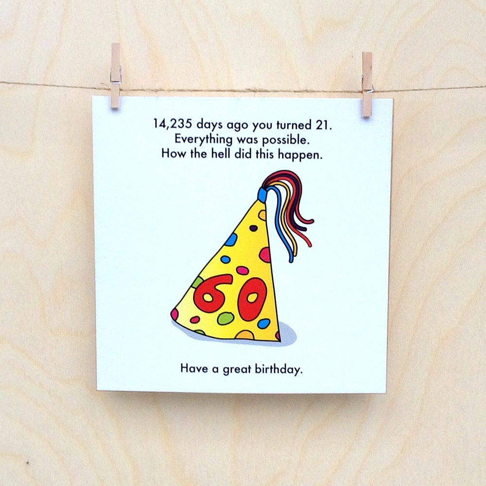 Funny 60th Birthday Card 60
