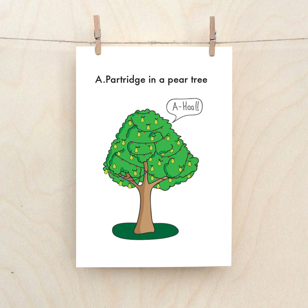 Alan Partridge card, Funny Christmas Card, A partridge in a pear tree, Funny 12 days of ...