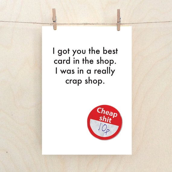 funny crap card, funny birthday card, funny card