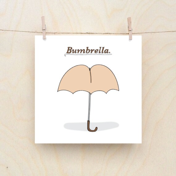 Bumbrella, funny birthday card
