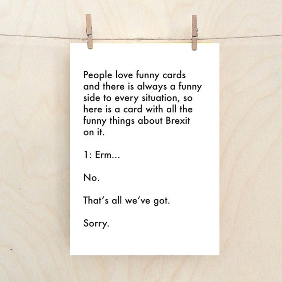 funny Brexit card, funny card