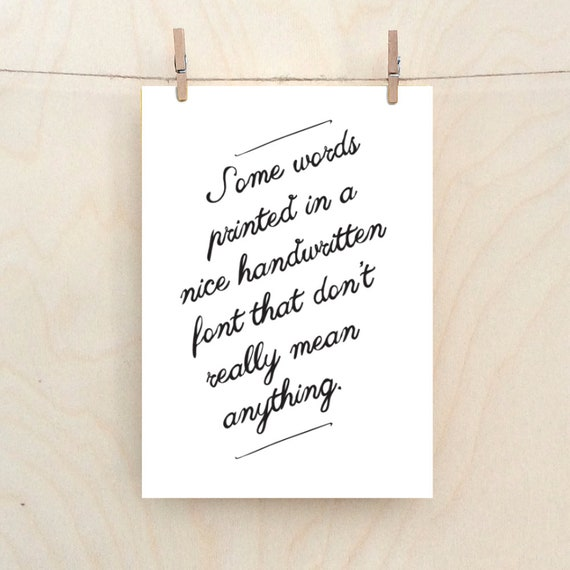 Some words, funny love card, birthday card