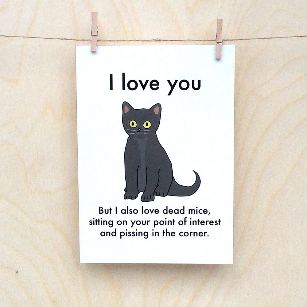 Love funny love you Sayings Ilfullxfull11204698526hyvjpg Objectables Love You Cat Card Funny Valentines Card Funny Love Card Funny Cat
