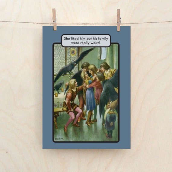 His friends were weird, Funny wedding card, funny birthday card.