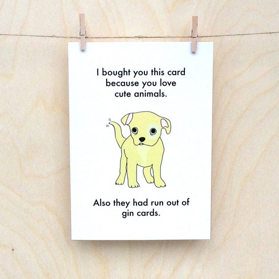 Funny Birthday card, funny love card, funny card