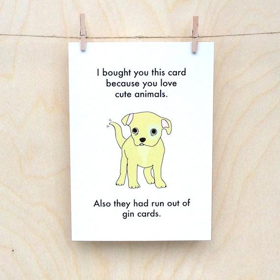Funny Birthday card, funny love card, funny card