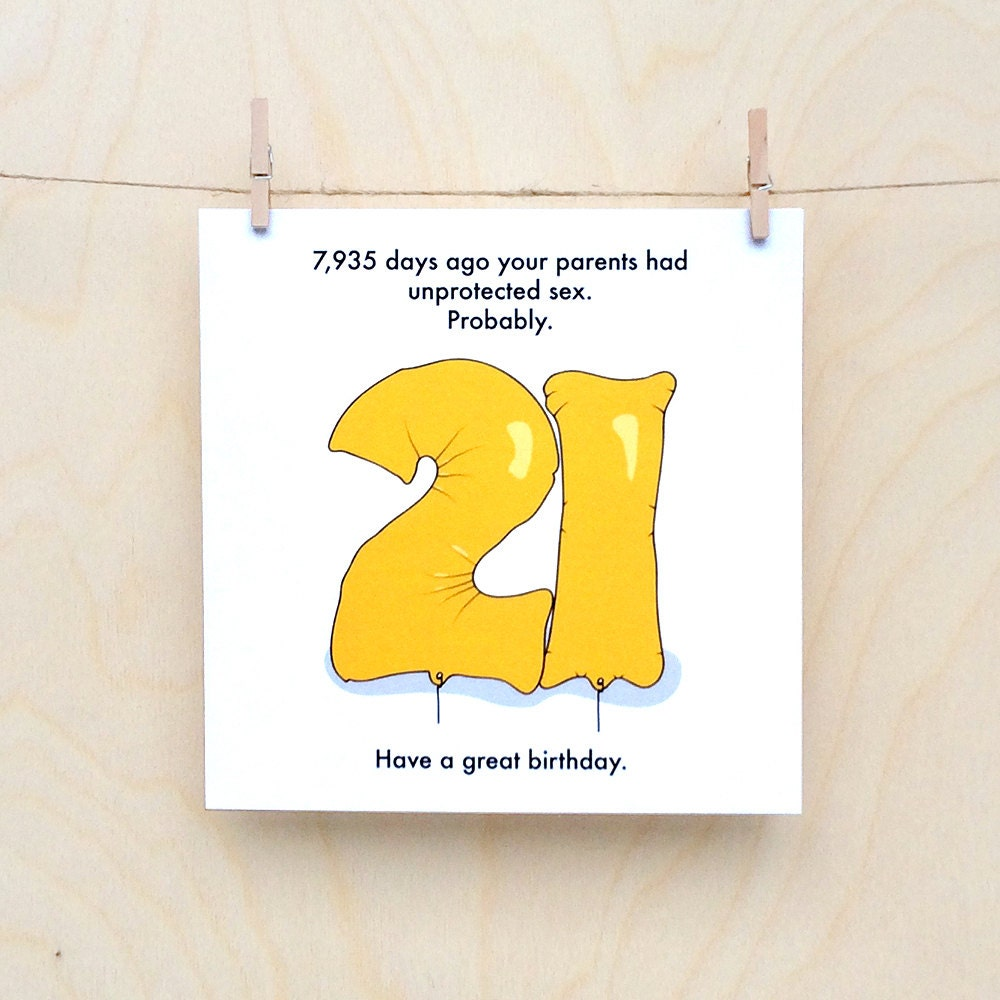 Funny 21 Year Old Birthday Cards