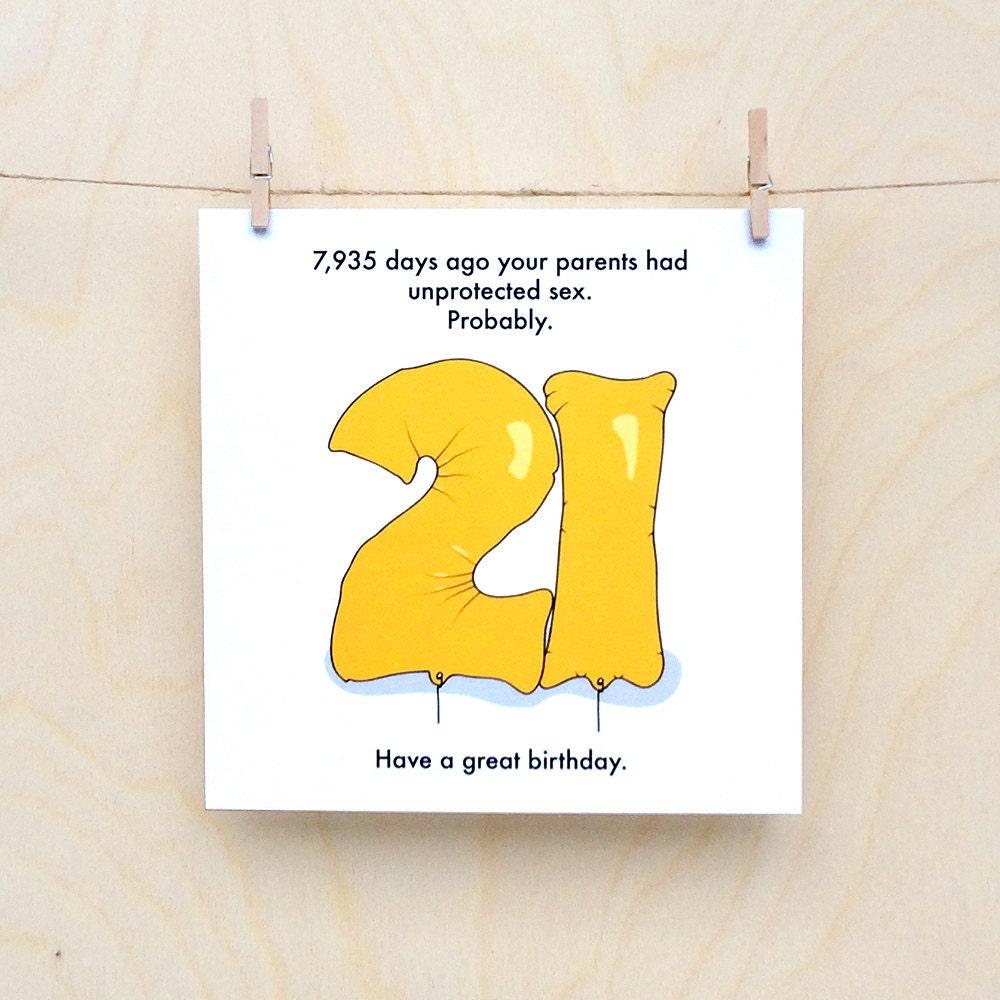 Funny 21st Birthday Card Funny 21 Birthday Card