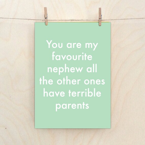 Nephew Card,Funny  card, Funny birthday Card, funny nephew card