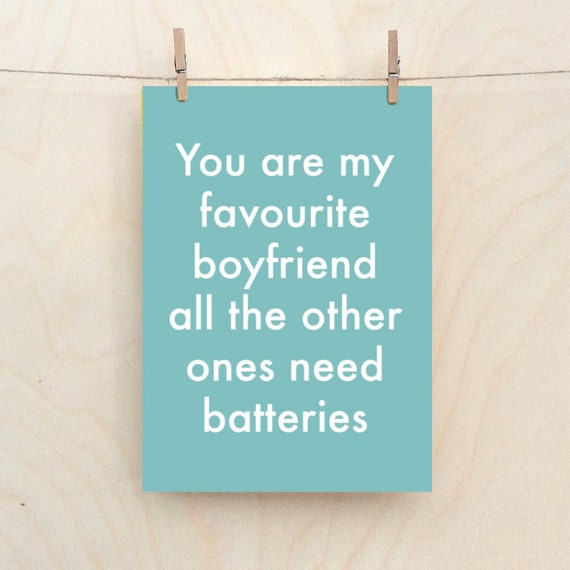 Boyfriend card,Funny love Card