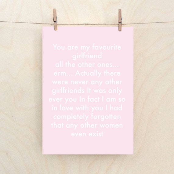 Funny Girlfriend Card, Funny Love card, Funny Valentine Card