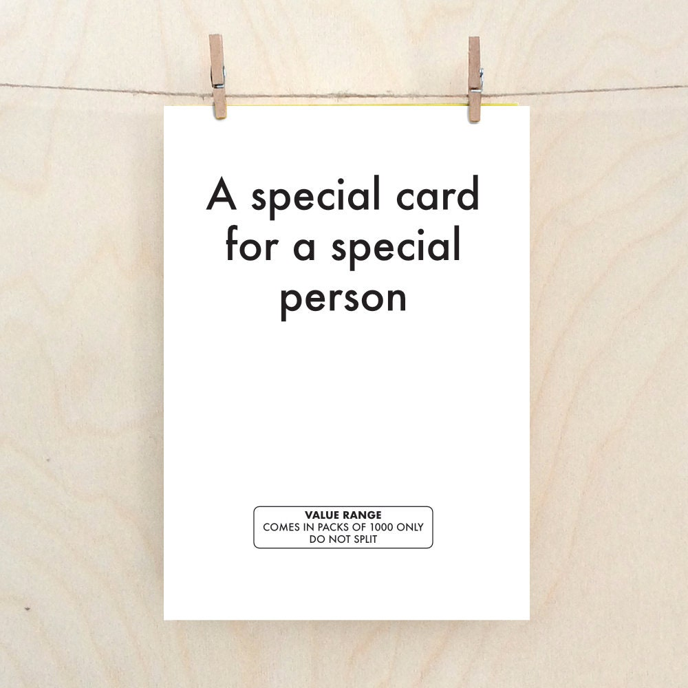Funny Special Person Card Birthday