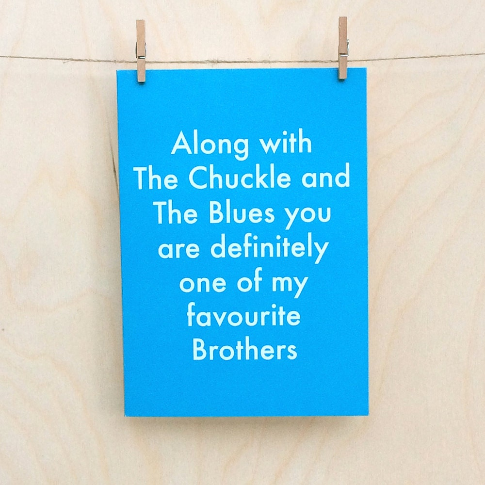 Favourite Brother Card Funny Birthday