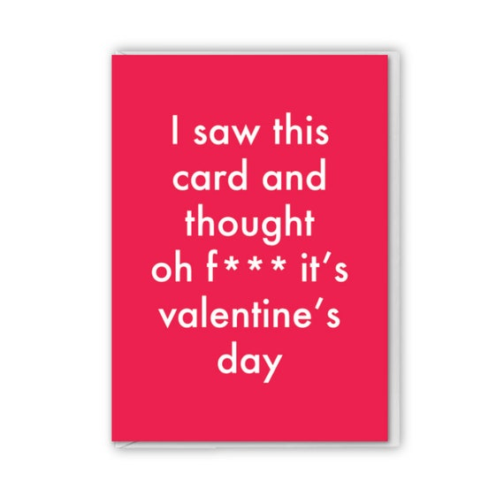Valentines card, funny card, I saw this card and remembered valentines day