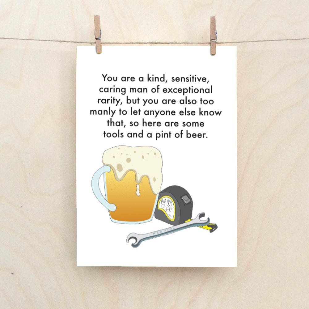 Funny Man Card Birthday