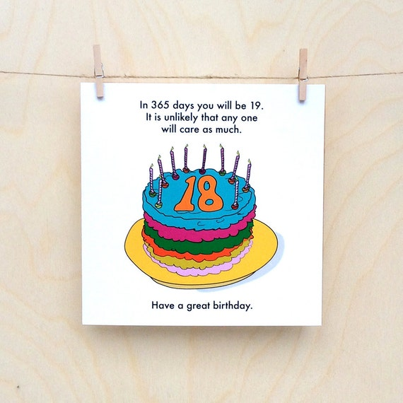 Funny 18th birthday card, funny 18, rude 18th, 18th birthday card