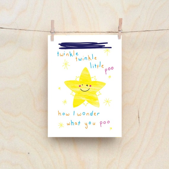 Twinkl Twinkle card, Rude kids cards, Silly Children's cards, Toddler rude words card, funny kids card. funny birthday card.