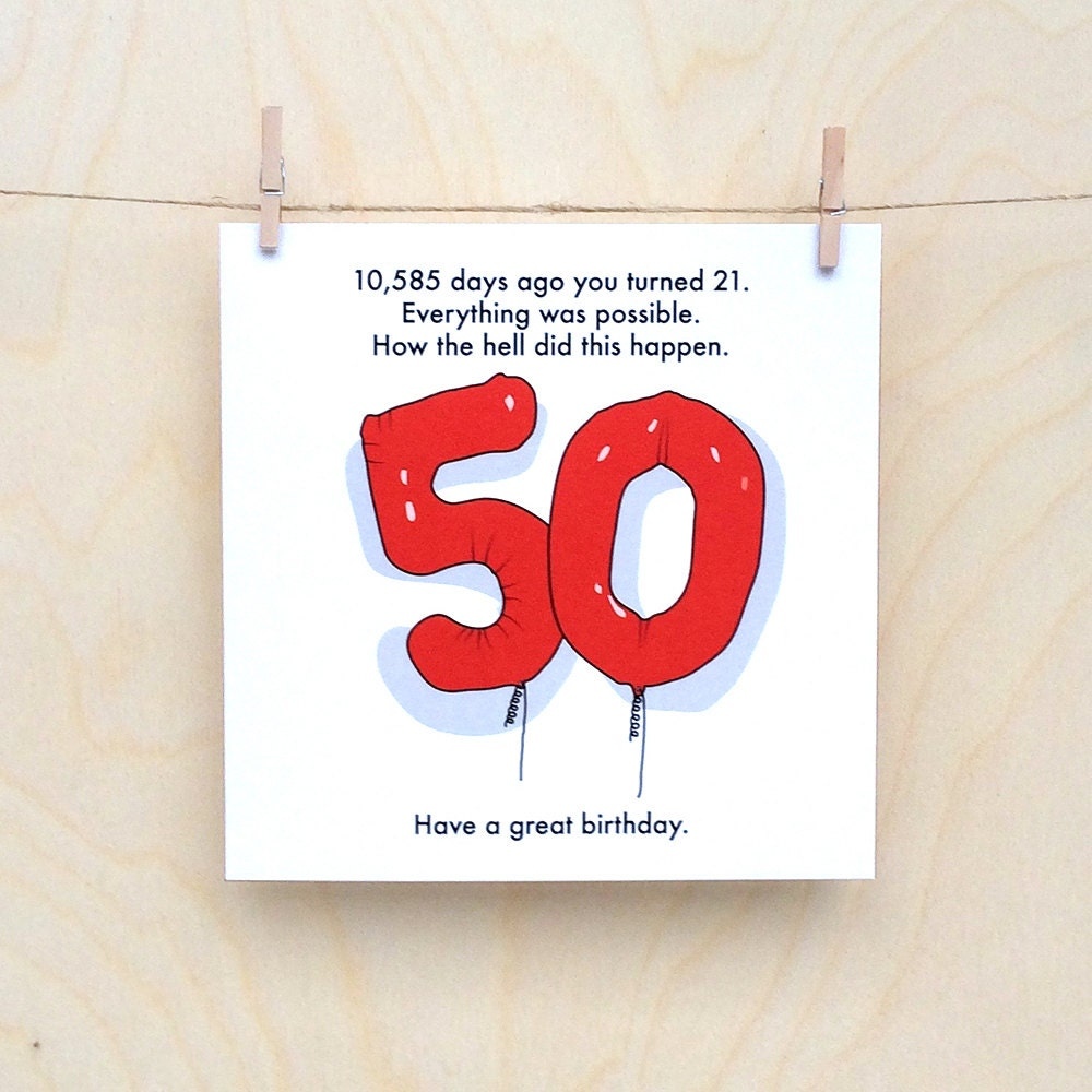 This is a photo of Witty Free Printable 50th Birthday Cards