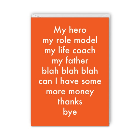 Fathers Day, funny card, you're my hero, can I have some money?