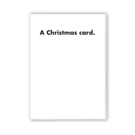A Christmas card, funny card