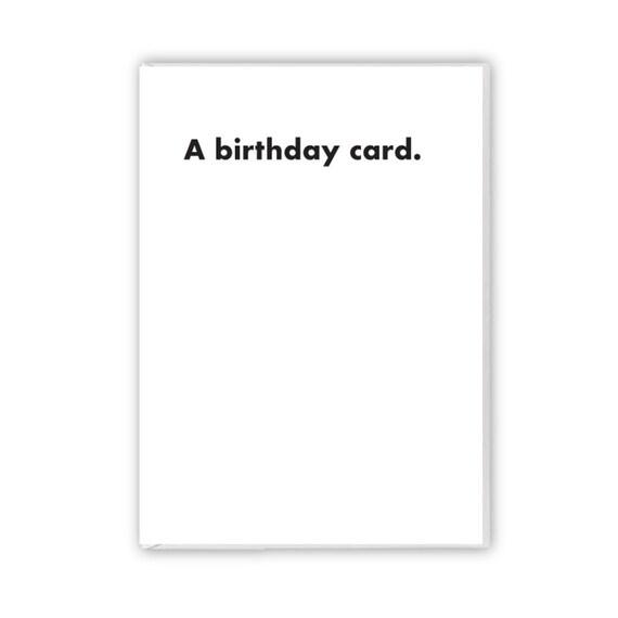 A birthday card, funny card
