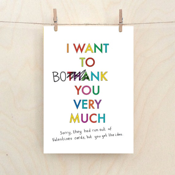 I want to bonk you very much, valentines card,Funny love Card